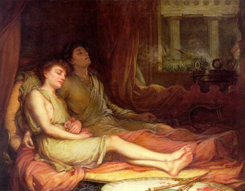 J. William Waterhouse - sleep and his half-brother, death-1874 (hypnos e tânatos).jpg